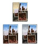 In the desert - snapshot mosaic Royalty Free Stock Photos