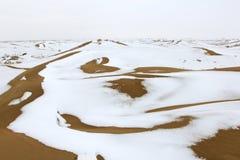 Desert&Snow Photographie stock libre de droits