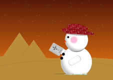 Desert Snowman Royalty Free Stock Images