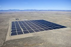 Desert Solar Aerial Stock Images