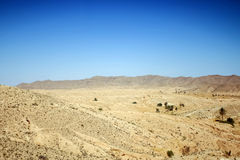 Desert in southern Tunisia Stock Image