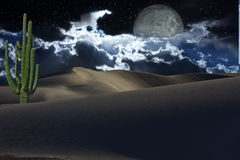 Desert with stars Royalty Free Stock Images