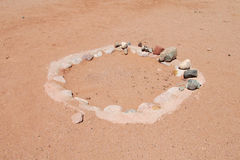 Desert stone circle Stock Photos