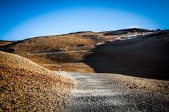 Desert. A stone deset created by a vulcano Royalty Free Stock Photos