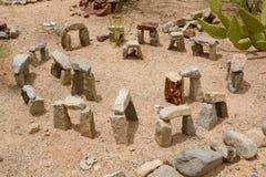 Desert Stonehenge. Stonehenge replica on a trail at Green Valley, Arizona royalty free stock photo