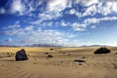 Desert stones. Landscape in HDR at Fuerteventura Desert in Spain Stock Photography
