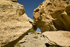 Desert Stones and Blue Sky Royalty Free Stock Photos