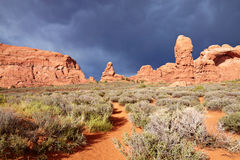Desert after the Storm. Arches National Park, Utah, USA Royalty Free Stock Photography