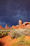 Desert after the Storm. Arches National Park, Utah, USA Royalty Free Stock Images