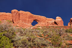Desert after the Storm. Window, Arches National Park, Utah, USA Stock Images