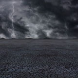 Desert storm. Very high resolution 3D rendering of a storm in the desert Royalty Free Stock Photo