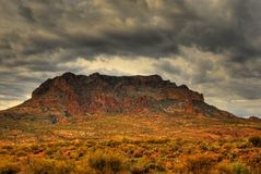 Desert Storm Approaching 4. Dramatic desert mountains with a storm approaching Stock Photo