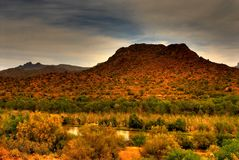 Desert Storm Approaching Stock Photo