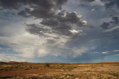 Desert storm clouds Royalty Free Stock Photos