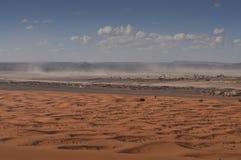 Desert storm in Sahara desert Royalty Free Stock Image