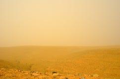 Desert storm. Sandstorm in the Negev desert. Israel Royalty Free Stock Photography