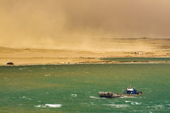 Desert Storm in SUEZ CANAL, Egypt Stock Images