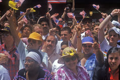 Desert Storm at ticker-tape parade, Stock Photos