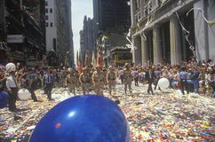 Desert Storm Victory Ticker Tape Parade, New York City, New York Stock Images