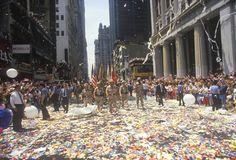 Desert Storm Victory Ticker Tape Parade, New York City, New York Royalty Free Stock Photo