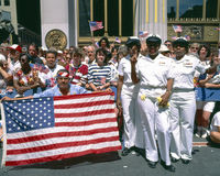 Desert Storm Victory Tickertape Parade Royalty Free Stock Image