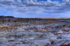 Desert Storms Forming. A Storms forming over the Arizona badlands Stock Photos