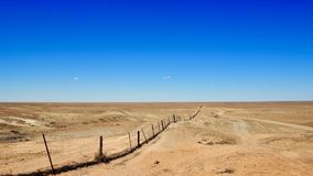 The desert stretches as far as the eye can see stock photography