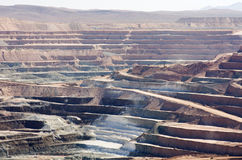 Desert Strip Mine Royalty Free Stock Photos