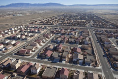 Desert Suburban Subdivision Aerial Royalty Free Stock Images