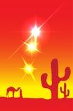 Desert sun Stock Photos