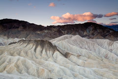 Desert sunrise. Sunrise near Zabriskie Point in Death Valley National Park, California Stock Images