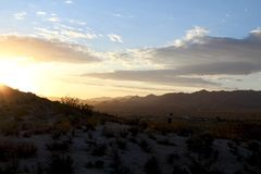 Desert Sunrise in Yucca Valley California. A beautiful winter sunrise in the desert in yucca valley california Stock Images