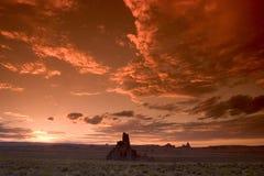 Desert Sunset. Stunning sunset over rock formations at Kayenta, near Monument Valley National Park. Arizona USA Royalty Free Stock Photo