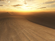 Desert sunset Stock Images