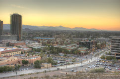 Desert Sunset. In Tempe Arizona from A mountain Stock Images