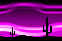 Desert after sunset vector illustration