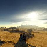 Desert sunset. An illustration of a the egypt desert sunset Royalty Free Stock Image
