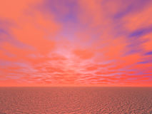 Desert sunset background Stock Images