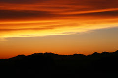 Desert Sunset - Clouds Stock Photo