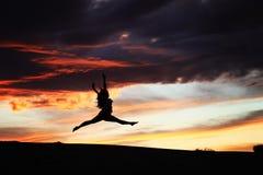 Desert Sunset Dancer Royalty Free Stock Photo
