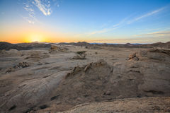 Desert at sunset Royalty Free Stock Images