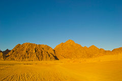 Desert at sunset Stock Photography