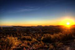 Desert Sunset Stock Photography