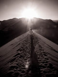 Desert Sunset At San Pedro Stock Images