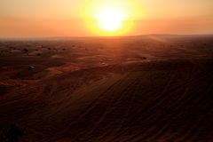 Desert Sunset. Taken during desert safari in Dubai stock images