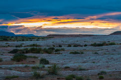 Desert Sunset Utah Landscape Grand Staircase Escalante Stock Photos