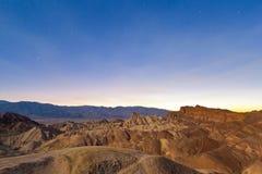 Desert Sunset, Zabriskie Point, California Stock Photo