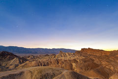 Desert sunset, Zabriskie Point, California Stock Photo