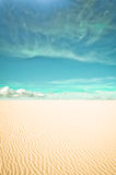 Desert and surreal clouds Royalty Free Stock Image