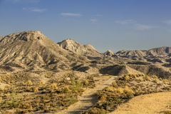 Desert of Tabernas. This is a view of the mountains of the desert of Tabernas Stock Images
